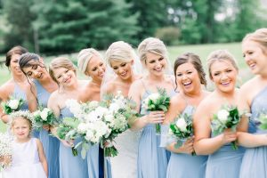 Outdoor Wedding Party Photos captured by Abbie Tyler Photography featured on JPC Event Group