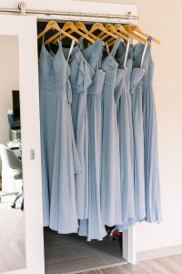 Dusty Blue Bridesmaids Dresses captured by Abbie Tyler Photography
